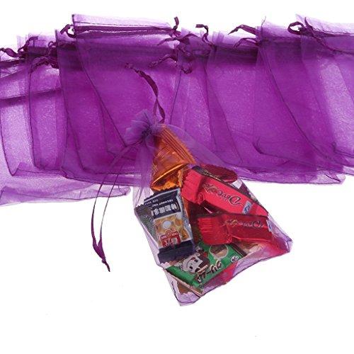 Violet Fête Cadeau Candy Glower ou Sacs en Filet Soleil 100 de Mariage Maille au Wrap nbsp;Pcs de Cordon pour Serrage HxaaP1wqU