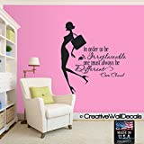 CreativeWallDecals Wall Decal Vinyl Sticker Decals Art Decor Design Coco Quote Fashion Girl Style Woman Inspire Bedroom Modern Kids Children (r543)