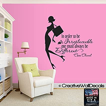 Wall decal vinyl sticker decals art decor design coco quote fashion girl style woman inspire bedroom