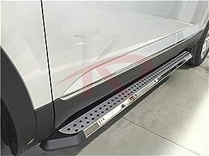 Amazon.com: Fit for VW Volkswagen Atlas 2018 Side Step Nerf Bar Running Boards Aluminium ...