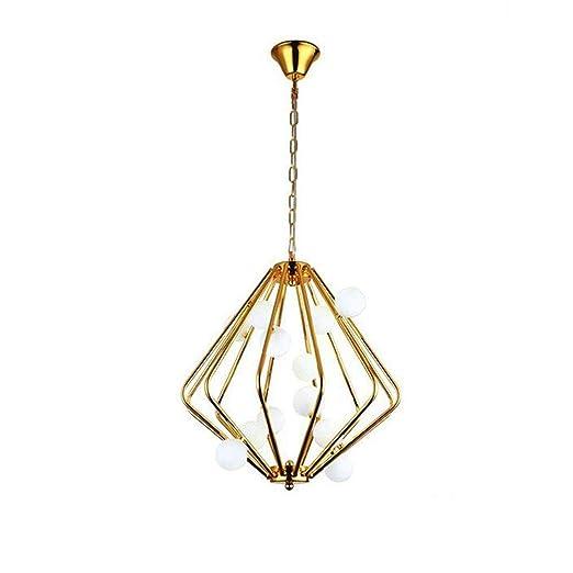 Pendelleuchte Gold Retro Käfig Hängelampe Glas Lampenschirm ...