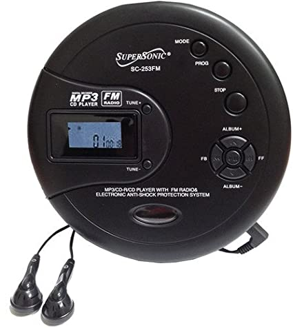 Review Supersonic SC253FM Personal MP3/CD