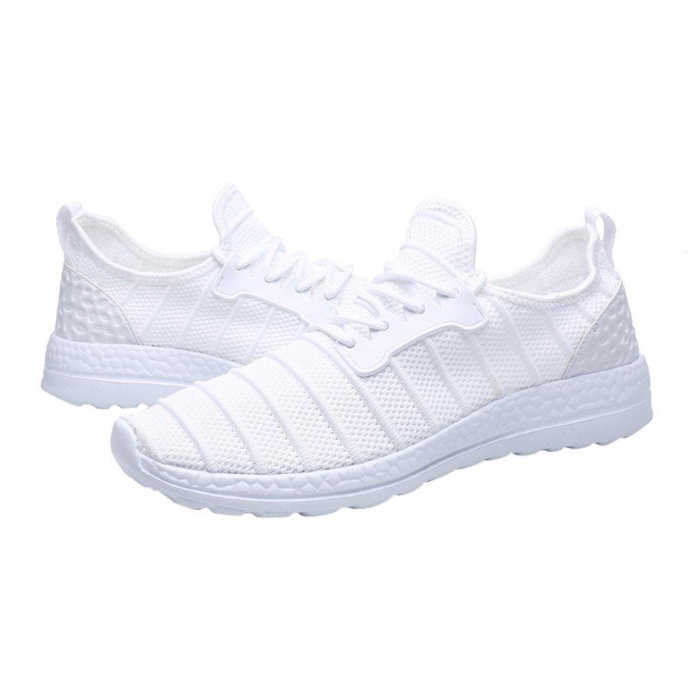 ❤ Calzado Deportivo Unisex, Otoño Invierno Zapatillas de Deporte Beathable Zapatos de Malla Zapatos Casuales Zapatos de Viaje con Cordones Absolute: ...