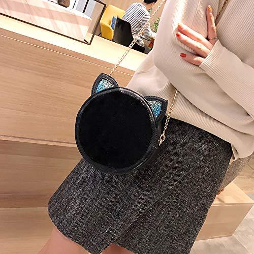 D'épaule Sauvage Main Poilue Épaule Bandoulière Rétro Pochette Petit Sacs La sac À Carré Fille Sac Mode Mini Messenger Paquet Noir Femmes Winjin tqfY88