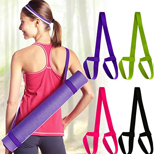 - Yoga Mat Carry Rope,Nesee Mat Strap Sling Adjustable Made Two-way Elastic Yoga Mat Straps with Yoga Straps Exercise Mat Straps Rope (Random)