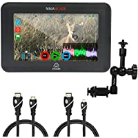 Atomos Ninja Blade 5 HDMI On-Camera Monitor & Recorder, Caltar 11 Articulating Magic Arm, Jumbl High-Speed HDMI to Micro HDMI (Type D) and Jumbl High-Speed HDMI-A to Mini HDMI-C Cable