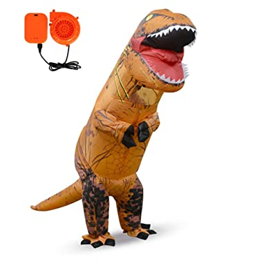 Ohlees T-Rex Inflatable Dinosaur Mascot Christmas Costume ...