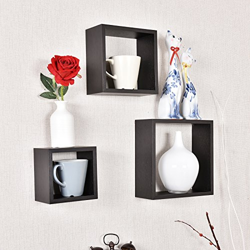 Review WELLAND Victorian Tri Wall Shelves Cube Displaying Shelf Set of By WELLAND by WELLAND