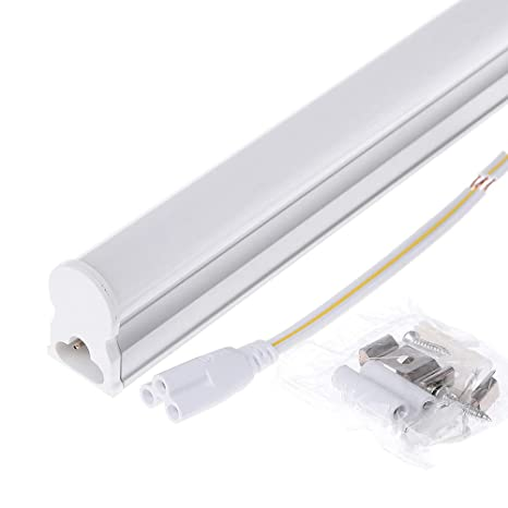 Amazon.com: Tubo de luz LED T5 con conexión integrada, 2 ...