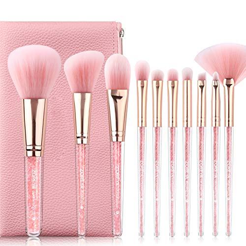 Hiar Professional Makeup Brushes Makeup Brushes Premium Makeup Brush Set Foundation Cosmetic Brush Tools with Bag(Powder brush/Foundation brush/Eye shadow Brush Ect. 10Set)
