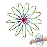 Flow Ring Kinetic 3D Spring Toy- Multi Sensory Interactive 3D Shaped Flow Ring Sculpture Ring Game Toy - For Kids Boys And Girl, Rave Accessories, Festival Accessories (Colorful)