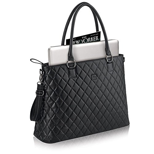 Solo Waldorf Tote with 15.6 Inch Laptop Compartment, Black by SOLO (Image #2)
