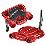 TaylorMade 2018 Spider Tour Red Putter (Double Bend, Left Hand, 35 Inches, with Sightline)