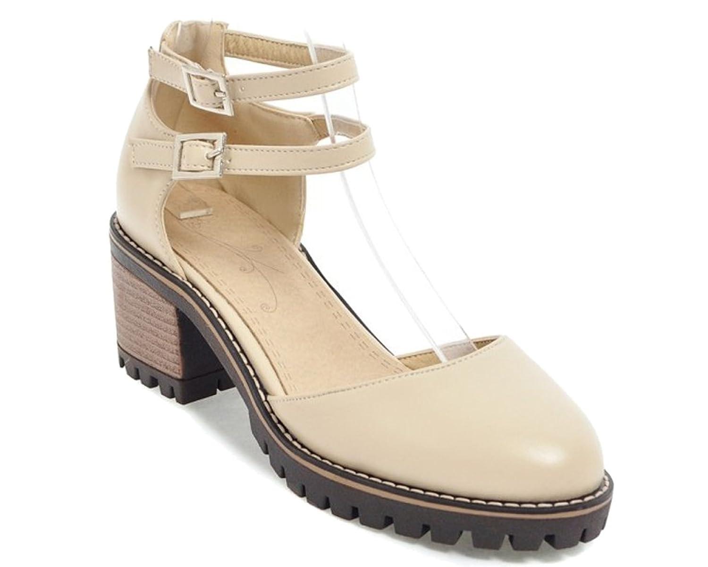 HiTime Damen Pantoffeln, Beige - Beige - Größe: 36