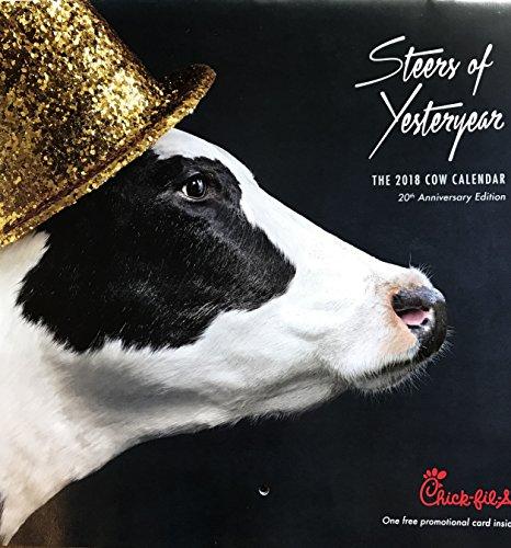 2018 Chick Fil A Cow Calendar