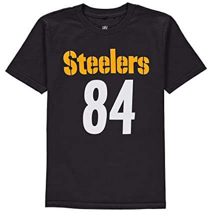 87b7014c Outerstuff Antonio Brown Pittsburgh Steelers #84 NFL Youth Mainliner Name &  Number T-Shirt
