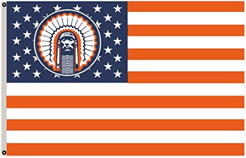 2But US Stars& Stripes Illinois Fighting Illini Chief Flag Banner 3x5 Feet]()