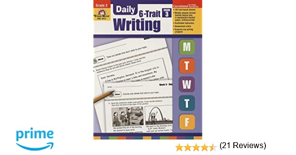 Daily 6-Trait Writing, Grade 3: Evan Moor: 9781596732971: Amazon ...