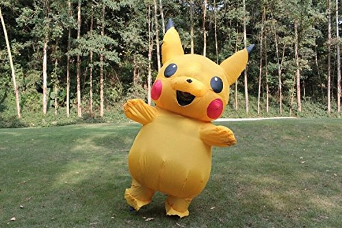 Kooy Pikachu Inflatable Costume Cosplay Halloween - Pikachu Mascot Costume