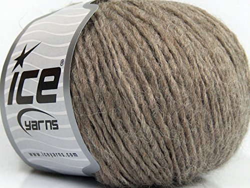 (Peru Alpaca Worsted - Heather Beige Merino Wool Alpaca Acrylic Blend Yarn 50gr)