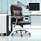 Executive Home Office Chair Computer Task Seat with Lumbar PU Leather