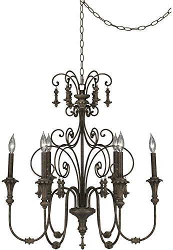 Light Accents Six Chandelier (Scrolled Tiers 28