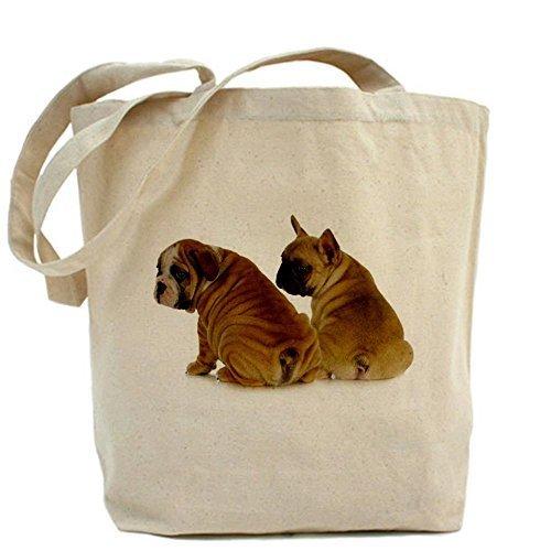 CafePress due cuccioli–Inglese e Francese Bulldog Tote Bag–Standard da CafePress