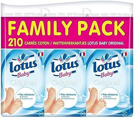Toilette et Soin du bébé Cuadrados De Algodón Bebé Lotus X 210 Family Pack Precio Unitaireenvoi Rápido Y Limpio
