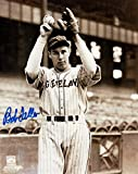 Bob Feller Autographed Cleveland Indians 8x10 Photo (Pinstripes)