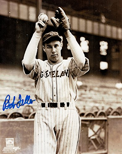 Bob Feller Autographed Cleveland Indians 8x10 Photo (Pinstripes) from DenverAutographs
