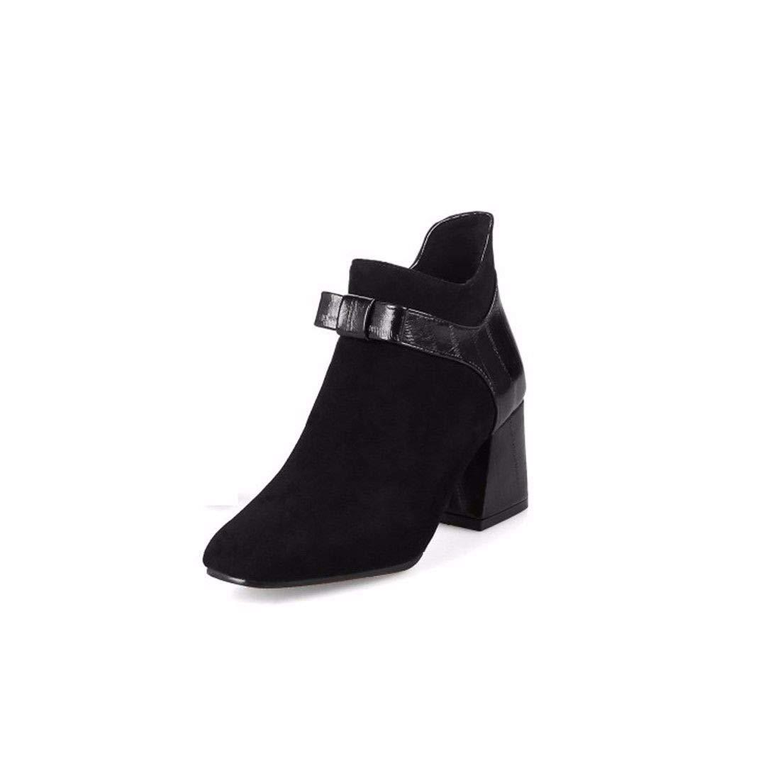 AIKAKA Frauen Herbst und Winter Europa und und und Amerika Sexy warme High Heel Schuhe Kurze Stiefel  1aa89d