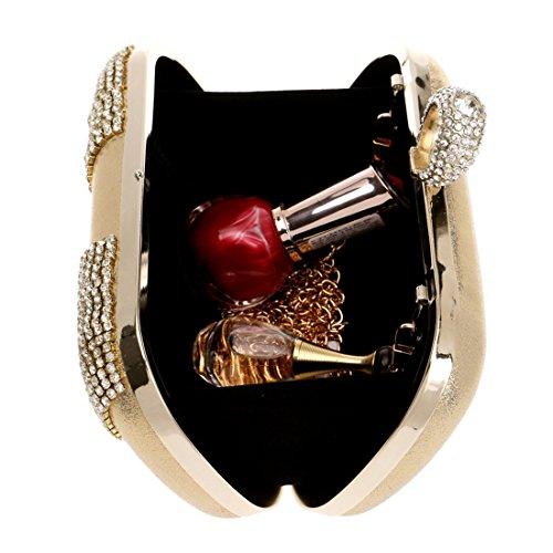 Nozze Lusso Di Donna Diamante Red Frizione color Tatkldisu Da Borsa Gold qTPRXR