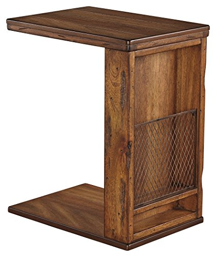 Signature Design by Ashley T830-17 Chair Side End Table, Vintage Brown 17 Magazine Rugs