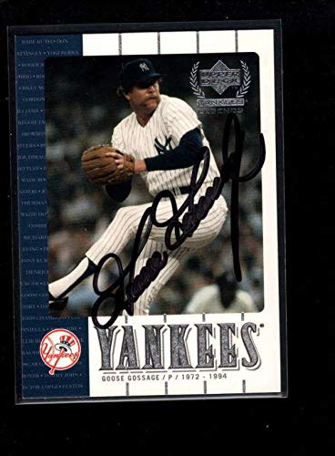 2000#36 Goose Gossage Authentic Card Autograph Signature Ax6295 - Upper Deck Certified - Baseball Slabbed Autographed Cards