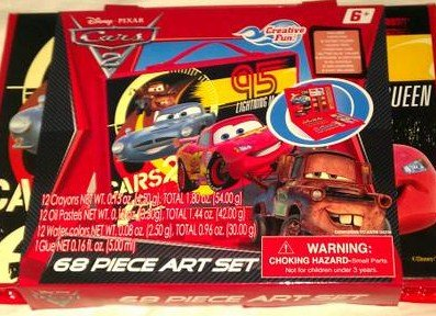 Disney Cars 68 Piece Art Set