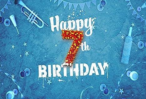 Amazon Com Yeele 10x8ft Girl Boy 7th Birthday Backdrop Trumpet