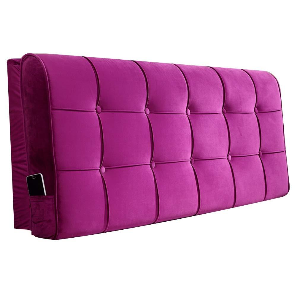 Headboard Headboard Cushion, Cushion Bed Wedge Cushion, Cushion Pillow, Removable Washable Back Belt/no Headboard (Color : 2#-with headboard, Size : 90cm) by K&F-Cushion