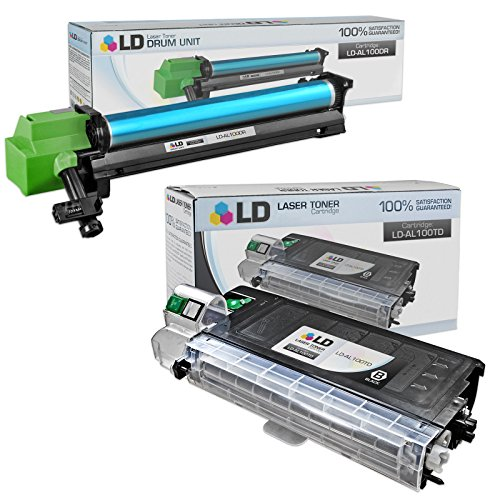 LD Compatible Toner Cartridge & Drum Unit Replacements for Sharp AL-100TD & AL-100DR (1 Toner, 1 Drum, 2-Pack)