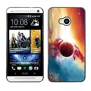 LECELL--Funda protectora / Cubierta / Piel For HTC One M7 -- Planet Galaxy --