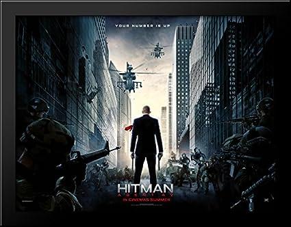 Amazon Com Hitman Agent 47 36x28 Large Black Wood Framed Print