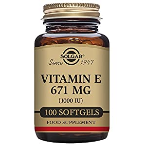Solgar Vitamin E 1000 IU Mixed (d Alpha Tocopherols & Mixed Tocopherols) 100 Softgels