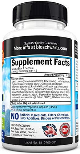 Colon Cleanser & Detox for Weight Loss. 15 Day Extra Strength Detox Cleanse with Probiotic for Constipation Relief. Pure Colon Detox Pills for Men & Women. Flush Toxins, Boost Energy. Safe & Effective 7