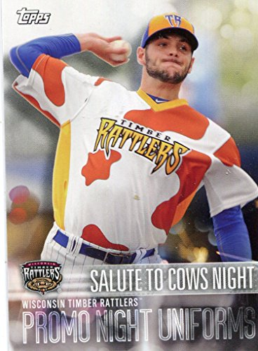 2018 Topps Pro Debut Promo Night Uniforms #PNSCN Salute to Cows Night Wisconsin Timber Rattlers - NM