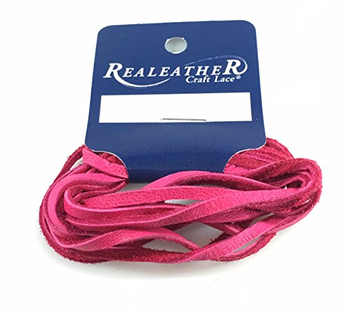 Deer Genuine Leather Lace - Deerskin Lace Lacing Leather Topgrain Fuchsia 2 Yards