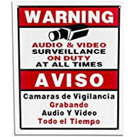 BV-Tech SIGN-D Best Vision Security Surveillance Warning Sign - Aluminum Metal - Outdoor (White)
