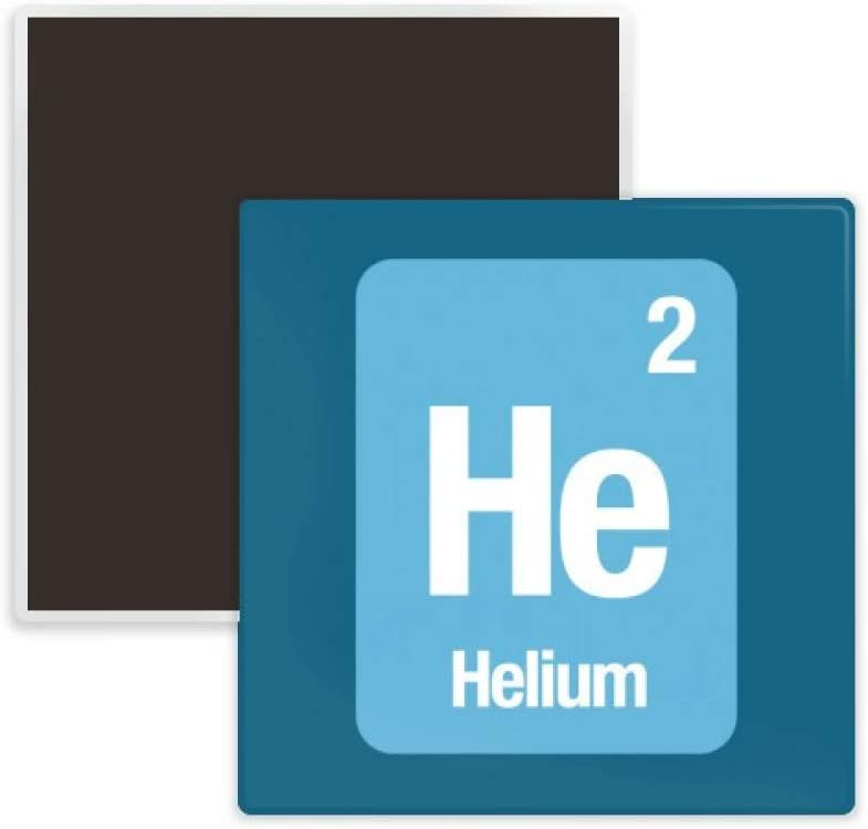 He Helium Chemical Element Science Square Ceramics Fridge Magnet Keepsake Memento