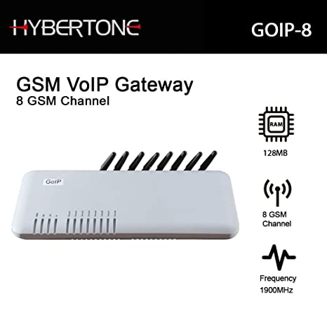 GSM VoIP gateway 8-channel GSM GoIP 8 Sim cards 7 years warranty + FREE LCD USB Voltage&Current Meter Tester