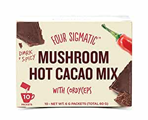 Four Sigmatic Organic Mushroom Hot Cacao with Cordyceps for Energy, Vegan, Paleo, 0.2 Ounce (10 Count)