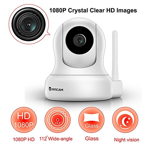 Wireless WiFi Camera with an Additional 5db ... Dericam HD Home Security Camera