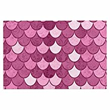 KESS InHouse Famenxt Mermaid Pink Pattern Illustration Decorative Door Mat, 2' x 3' Floor